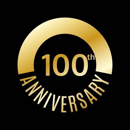 100 years anniversary icon. Foto de archivo - 128902012
