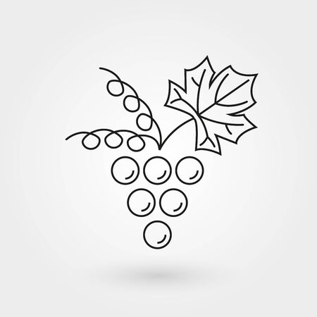Grape line icon. Bunch of grapes outline symbol. Vector illustration.