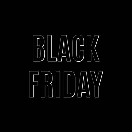 Black Friday Sale banner template. Discount background template. Vector illustration. Banque d'images - 130734543
