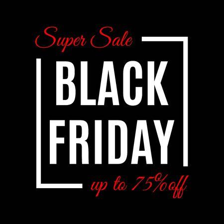 Black Friday Sale banner template. Discount background template. Vector illustration. Banque d'images - 130735013