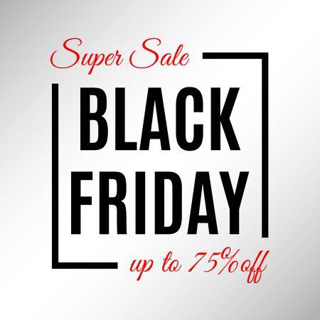 Black Friday Sale banner template. Discount background template. Vector illustration. Banque d'images - 130735011