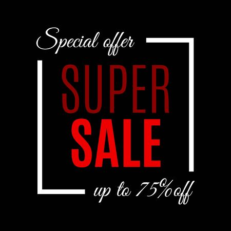 Sale banner template. Discount background with special offer and price off design elements. Vector illustration. Banque d'images - 130735169