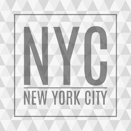 New York City abstract background. NY t-shirt print design and apparels graphic. Fashion typography, poster, banner. Vector illustration.