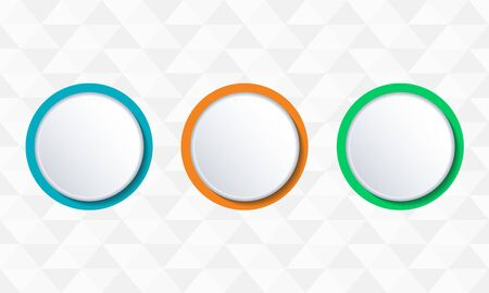 Button or badge set. Vector illustration.