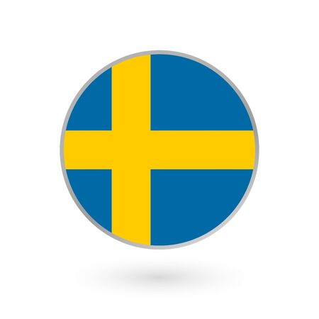 Sweden flag. Swedish national symbol. Vector illustration.