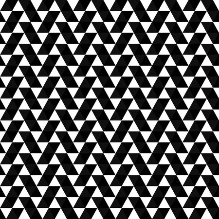 Abstract triangular pattern. Seamless background with triangles. Modern black and white geometric texture.
