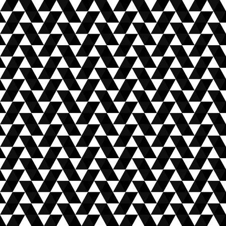 Abstraktes dreieckiges Muster. Nahtloser Hintergrund mit Dreiecken. Moderne geometrische Schwarzweiss-Textur.