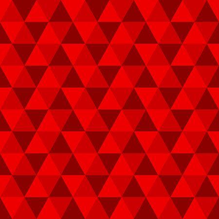 Motif triangulaire abstrait. Fond rouge transparent avec des triangles. Texture géométrique moderne. Illustration vectorielle.