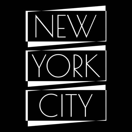 New York city typography design. NYC banner, poster, sport t-shirt print design and apparels graphic. Vector illustration. Ilustração