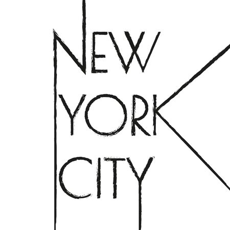 New York city typography design. NYC banner, poster, sport t-shirt print design and apparels graphic. Vector illustration. Иллюстрация