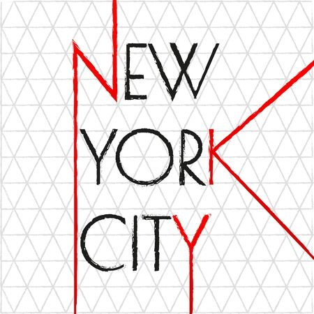 New York city typography design. NYC banner, poster, sport t-shirt print design and apparels graphic. Vector illustration. Illustration