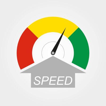 Speedometer icon. Speed symbol. Gauge and rpm meter . Vector illustration.