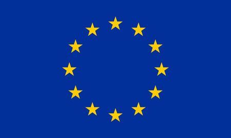 European Union flag. EU symbol with official colors. Vector illustration.  イラスト・ベクター素材