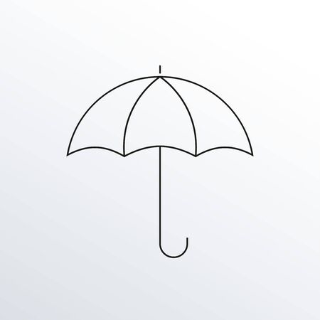 Umbrella thin line icon. Outline. Vector illustration.  イラスト・ベクター素材