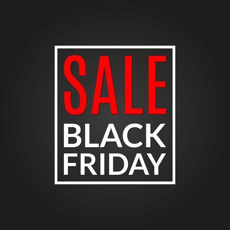 Black Friday sale banner. Discount card, Special offer, sale poster, flyer template. Vector illustration.
