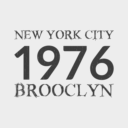 New York City and Brooklyn t-shirt print design and apparels graphic. Archivio Fotografico - 150187182