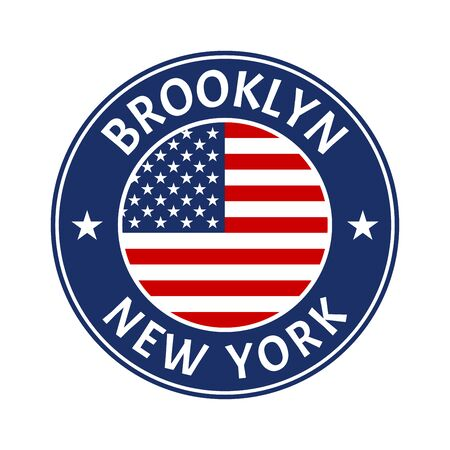 Brooklyn and New York city badge or typography print design.