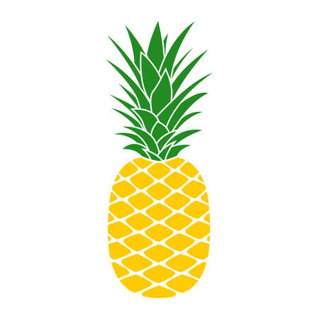 Pineapple icon. Tropical fruit Vector illustration.