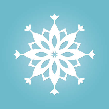 Snowflake icon. Snow flake silhouette. Winter and Christmas symbol. Vector illustration.
