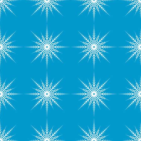 Snowflake seamless pattern. Christmas and winter background. Xmas print.  イラスト・ベクター素材