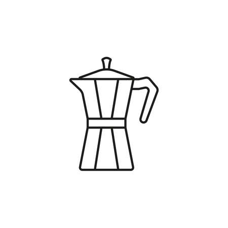 Geyser coffee maker line icon.  Vector illustration.