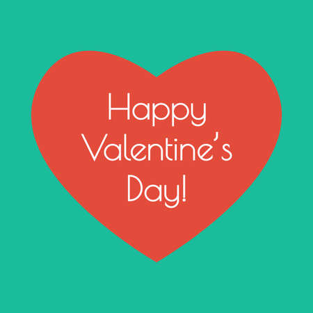 Valentine Heart. Happy Valentine's day greeting card. Vector illustration.