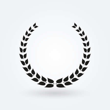 Laurel wreath icon. Award concept. Vector illustration.