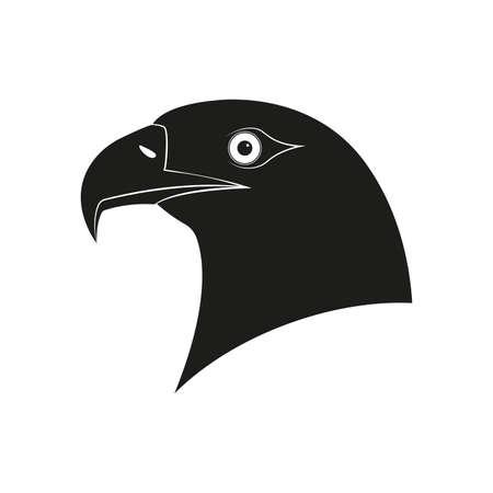 Eagle Head  . Bird Mascot symbol. Hawk or Falkon icon. Vector illustration. Vettoriali