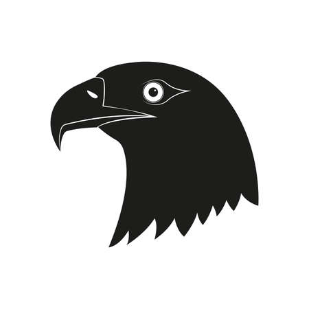 Eagle Head icon. Bird Mascot logo. Vector illustration. Vettoriali