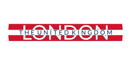 London text. The United Kingdom and London city banner, poster, Tee print, T-shirt graphics. England or UK Typography design. Vector illustration.