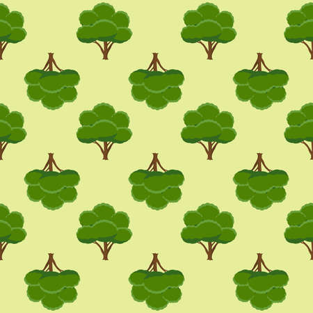 Seamless pattern with trees. Vector illustration. Ilustração
