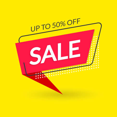 Sale and Discount modern banner design. template. Price off, Special offer, Big sale modern concept. Up to 50% Off. Vector illustration. Banco de Imagens - 151790887