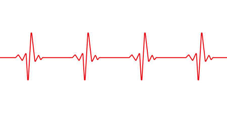 Heartbeat line. Pulse trace. EKG and Cardio symbol. Healthy and Medical concept. Vector illustration.