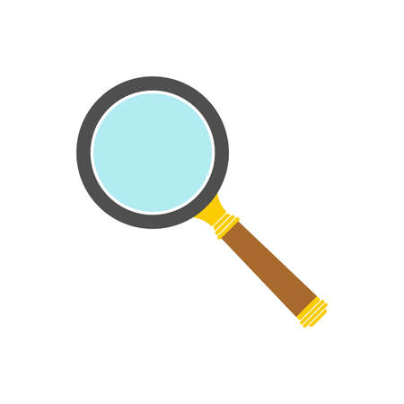 Magnify icon. Search symbol. Magnifying glass in flat style. Vector illustration.