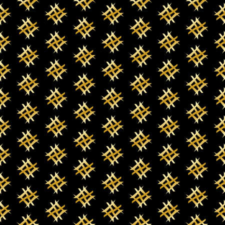 Seamless geometric pattern. Modern golden texture for backdrop or background with abstract geometric shapes. Vector illustration.