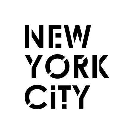 New York City typography modern text. NYC T-Shirt graphic, fashion, poster, jersey, emblem, badge design. Vector illustration. Ilustracja