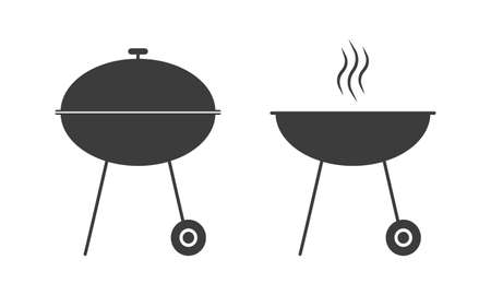 Barbecue grill icon. BBQ oven sign. Vector illustration. Ilustracja