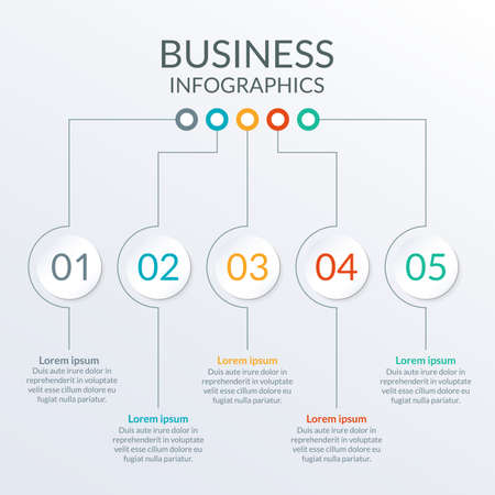 Options or levels info graphic template. Ilustracja