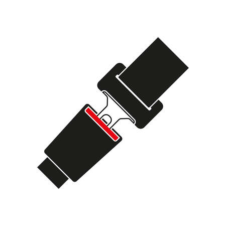 Seat belt icon. Safety in the car or airplane. Vector illustration. Ilustracja