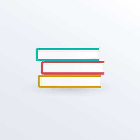 Books icon. Education or library sign. Vector illustration. Ilustracja
