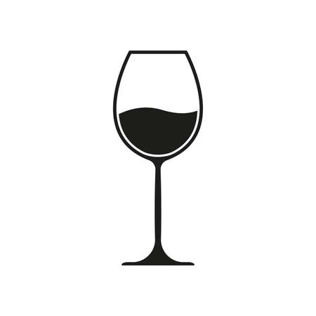 Wine glass icon. Alcohol beverage symbol. Vector illustration. Ilustracja