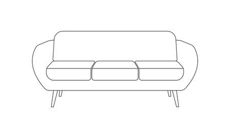 Sofa icon. Couch line symbol. Vector illustration.