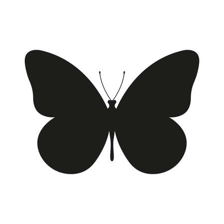 Butterfly icon or silhouette. Vector illustration. Ilustracja