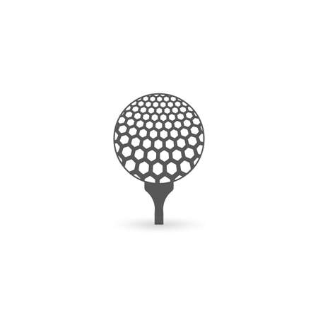 Golf Ball on Tee icon. Vector illustration. Ilustracja
