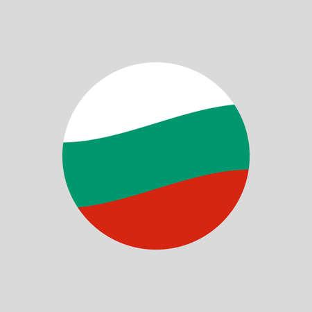 Bulgaria circle flag icon. Waving Bulgarian badge. Vector illustration. 向量圖像