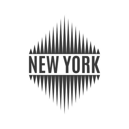 New York city typography. NYC print design. Badge  for t-shirt graphic. Vector illustration.