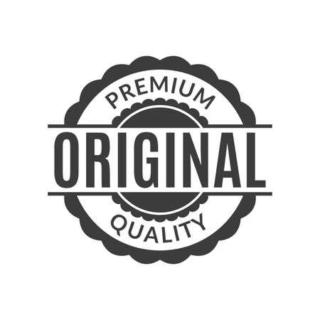 Original and Premium quality rubber stamp or seal. Round vintage label, emblem or badge. Vector illustration.