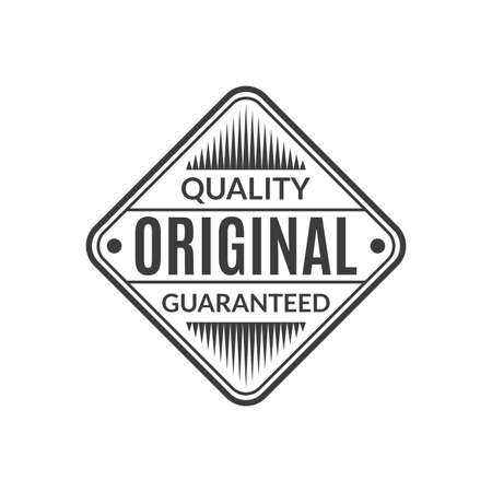 Original Quality Guaranteed stamp or seal. High quality product icon, badge or label. Vector illustration.