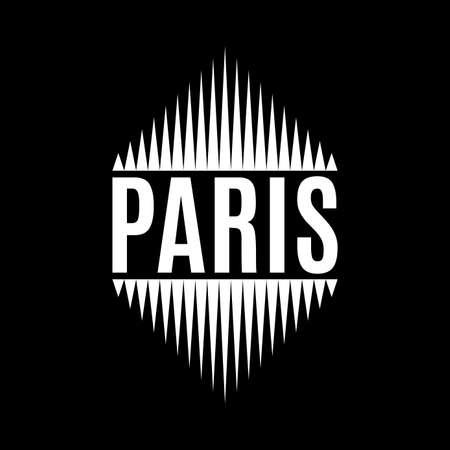 Paris typography. T-shirt print design with Paris text. Vector illustration.