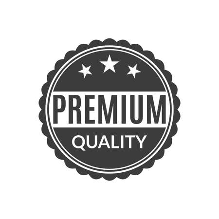 Premium Quality stamp or seal icon. Circle Best product badge or label. Vector illustration.
